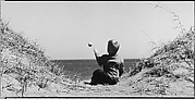 [Seated Boy on Seashore, Throwing Rock]