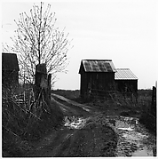 [Landscape with Barn and Dirt Path]