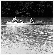 [Three People in Canoe]