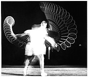[Stroboscopic Study of Man Hitting Tennis Ball]