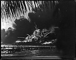 [U.S.S. Shaw Exploding During the Japanese Raid on Pearl Harbor, December 7, 1941, Palm Tree in Upper Left]