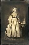 [Copy Print Enlargement of a Portrait of a Girl, c. 1850s]