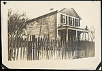 [Winter Scene of Clapboard House with Picket Fence, Possibly Sandy Creek, New York]