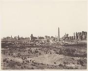 Karnak (Thèbes), Vue Générale des Ruines Prise du Nord-Est, en V