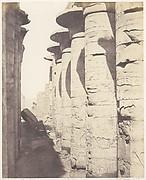 Karnak (Thèbes), Palais - Salle Hypostyle - Colonnade Centrale Vue du Point J