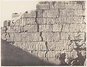 Karnak (Thèbes), Palais - Salle Hypostyle - Décoration de la Paroi Intérieure au Point M