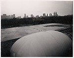 [Renovations at the Metropolitan Museum as seen from the roof]