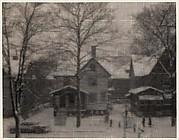 Rundel Park through Window Screen, Winter, Rochester