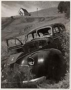 Church and Abandoned Automobile, Tiburon, California