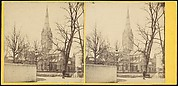 [Group of 17 Early Stereograph Views of British Churches]