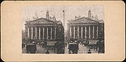 [Pair of Stereograph Views of the Royal Exchange, London, England]