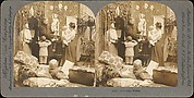 [Group of 13 Stereograph Views of Families and Children]