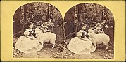 [Group of 31 Stereograph Views of Children With Animals]