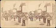 [Pair of Stereograph Views of General Jacob S. Coxey&#39;s Army of the Unemployed]