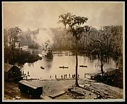 [Stern-Wheeler Arriving at Silver Springs, Florida, after an Overnight Run up the St. Johns, Oklawaha, & Silver Rivers]
