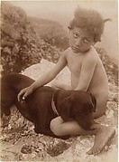[Nude Young Child with Dog in Lap, Sicily, Italy]