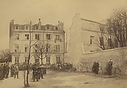 Assassinat des gnraux Clment Tomas et Jules Lecomte, rue des Rosiers 6  Montmartre deans la journe du 18 mars 1871