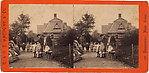 [2 Stereographic Views of Ballplayers&#39; House, Central Park, New York]