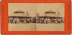 [2 Stereographic Views of Carousal, Central Park, New York]