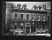 [Brick Greek Revival Town Houses with Iron Lyre Grillwork Balconies, East Boston, Massachusetts]