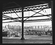 [Gas Station and Roadside Diner, From Underneath Roadway, New York City]