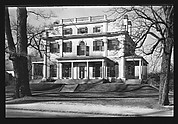 [Greek Revival House with Side Porches, Dedham, Massachusetts]
