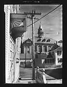 [Street Scene with Telephone Pole and Lines, Provincetown, Massachusetts]