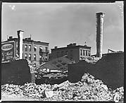 [York Garage Demolition Site, East 91st Street, New York City]
