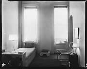 [Living Room of Walker Evans's Apartment at 441 East 92nd Street with Daybed, Ionic Capital, Music Records]