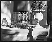 [Detail of Urn and Grillwork of Melrose Plantation House, Natchez, Mississippi]