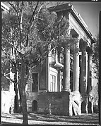 [Full-Façade Greek Revival Porch, Right Wing of Belle Grove Plantation, White Castle, Louisiana]