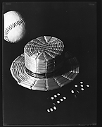 [Baseball, Straw Hat, and Dice]