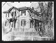 [Italianate Revival House with Tree Shadow on Façade, Cambridge, Massachusetts]