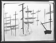 [Reproduction of Painting of Ships' Masts, Possibly by Ben Shahn]
