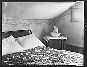 [Bedroom Interior with Water Jug and Bowl on Table, Near Copake, New York]