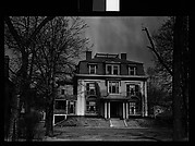 [Second Empire House with Mansard Roof and Trellised Balconies, Belmont, Massachusetts]