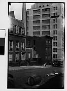 [View from Across Street of Evans's Apartment House, 48 Columbia Heights, Brooklyn, New York]
