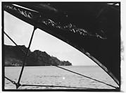 [South Seas: Ship's Prow and Shoreline (Cressida?)]