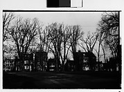 [Houses Behind Row of Trees, From Across Park, Possibly Newcastle, Delaware]