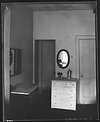 [Bedroom Interior with Dresser and Mirror, Possibly Walker Evans' Apartment at 441 East 92nd Street, New York City]