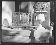 [Detail of Urn and Grillwork, Melrose Plantation House, Natchez, Mississippi]