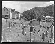 [Houses and Graveyard, Rowlesburg, West Virginia]