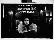 [Subway Passenger, New York City: Woman in Hat and Fur Collar Beneath
