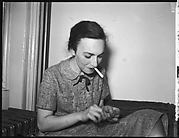 [Flash Test: Frances Collins Lindley Lighting Cigarette, New York City]