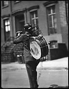 [One-Man Band Street Musician, Possibly Bethune Street, New York City]