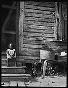 [Young Girl Seated on Steps of House, Florida]