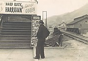 [Man Standing in Front of Movie Theater, Omar, West Virginia]