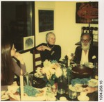 [Walker Evans Dinner Party: WE, Mary Knollenberg, and Liz Lesy]