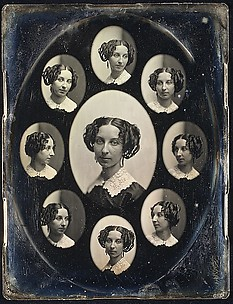 [Unidentified Woman in Nine Oval Views]