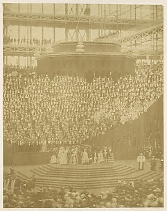 Queen Victoria Presiding at the Reopening of the Reconstructed Crystal Palace at Sydenham